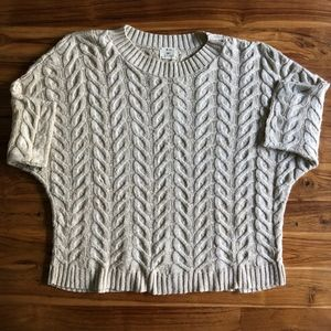 Pins & Needles Dolan Sleeve Cable Knit Sweater M/L